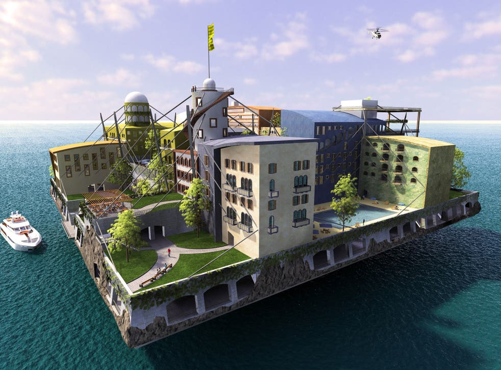 The Swimming City by Andras Gyorfi, the winning entry in a Seasteading Institute design contest