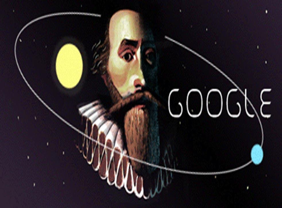Astronomer Johannes Kepler's google doodle