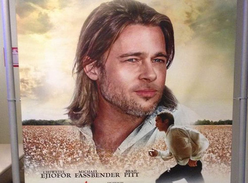 Italian cinema posters for the Oscar-tipped drama 12 Years A Slave were criticised for promoting the film's white stars ahead of its black protagonist