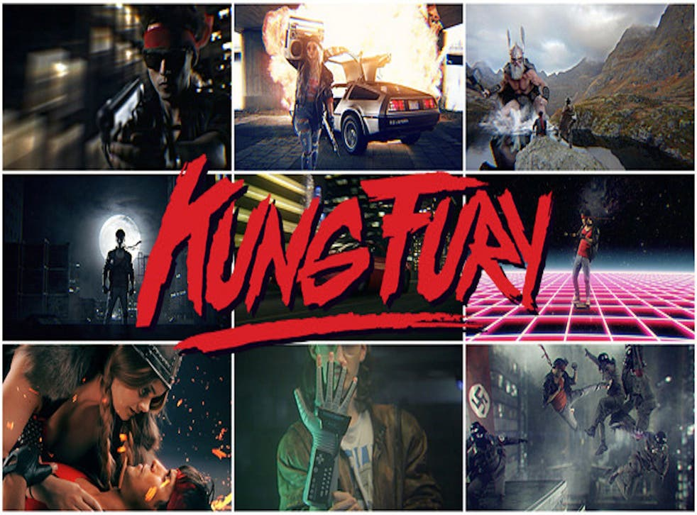The poster for Kung Fury on David Sandberg's Kickstarter page