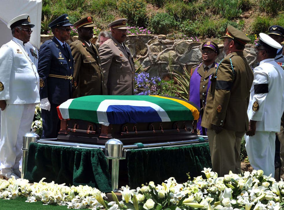 Main picture: Nelson Mandela's funeral at Qunu