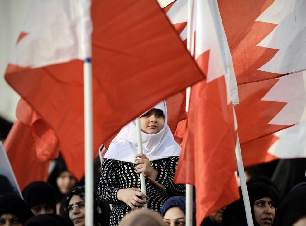 On the march: protesters in Bahrain this month, where the Sunni monarchy repeatedly asserted that it saw an Iranian hand behind the Arab Spring protests in 2011