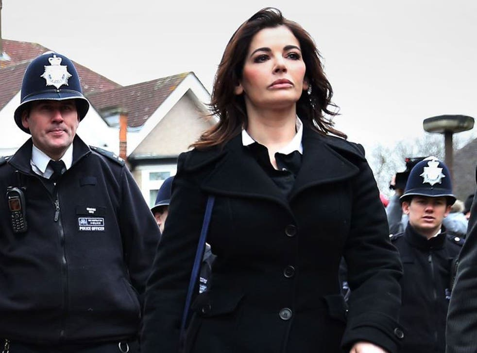 Nigella Lawson attending the trial of her former personal assistants last year.