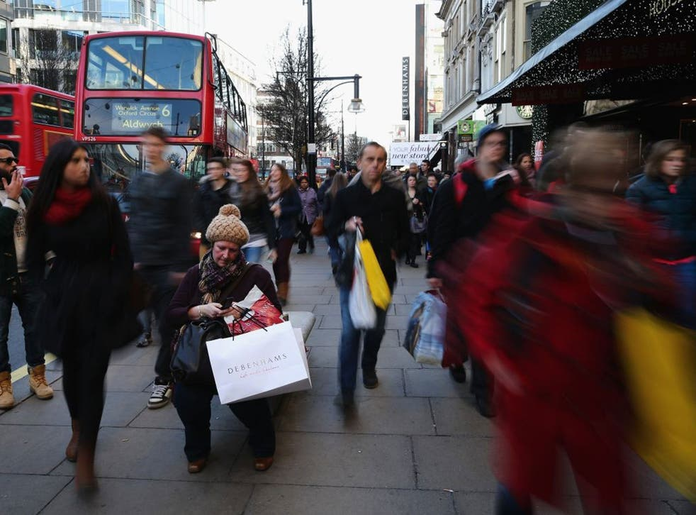 Oxford Street in London yesterday was full of shoppers, but another debt bubble could be looming