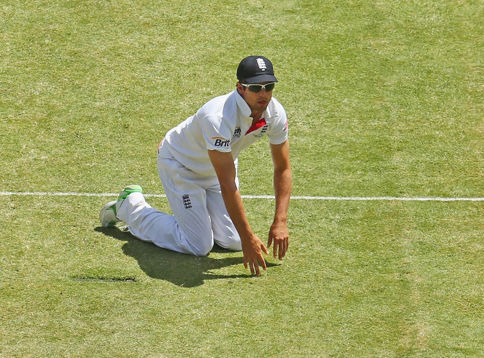 Alastair Cook of England in the field during the Fourth Ashes Test Match between Australia and England at Melbourne Cricket Ground