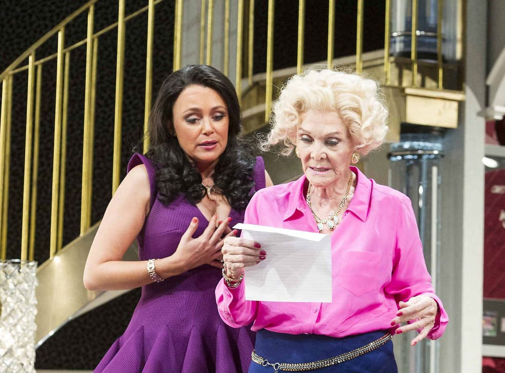 Keeley Hawes (left) and Sheila Hancock in Barking in Essex at the Wyndhams Theatre