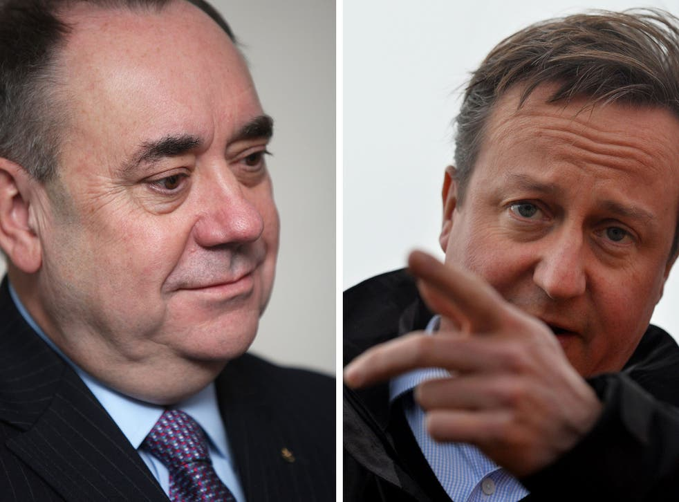 What would David Cameron do if he was forced out for a pint with the Scottish First Minister, Alex Salmond?