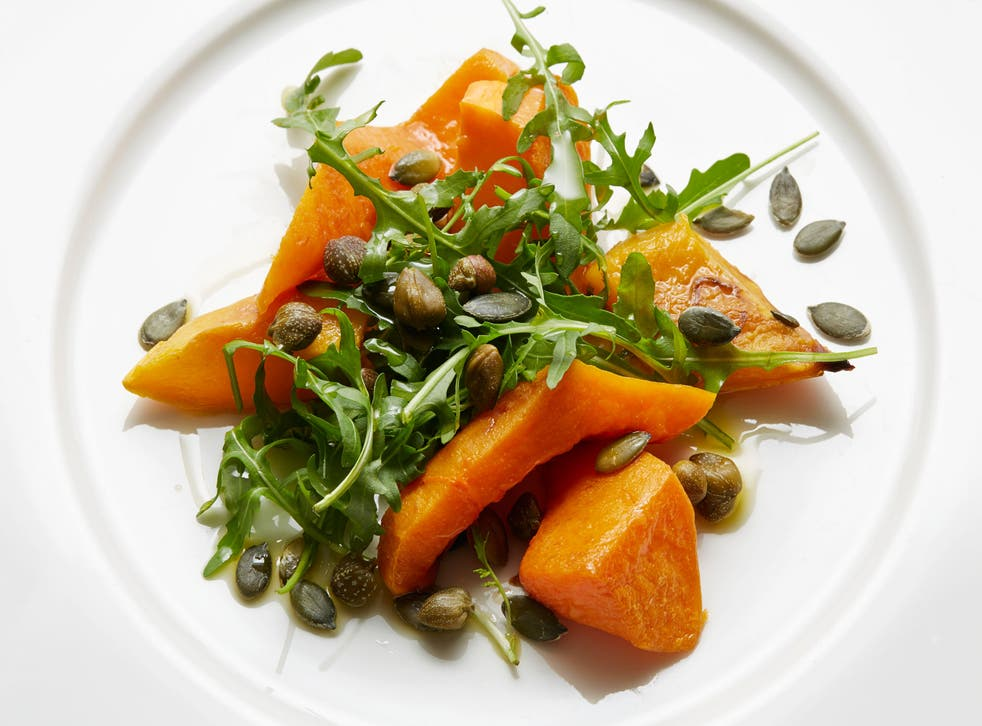 Squash salad makes a great winter starter
