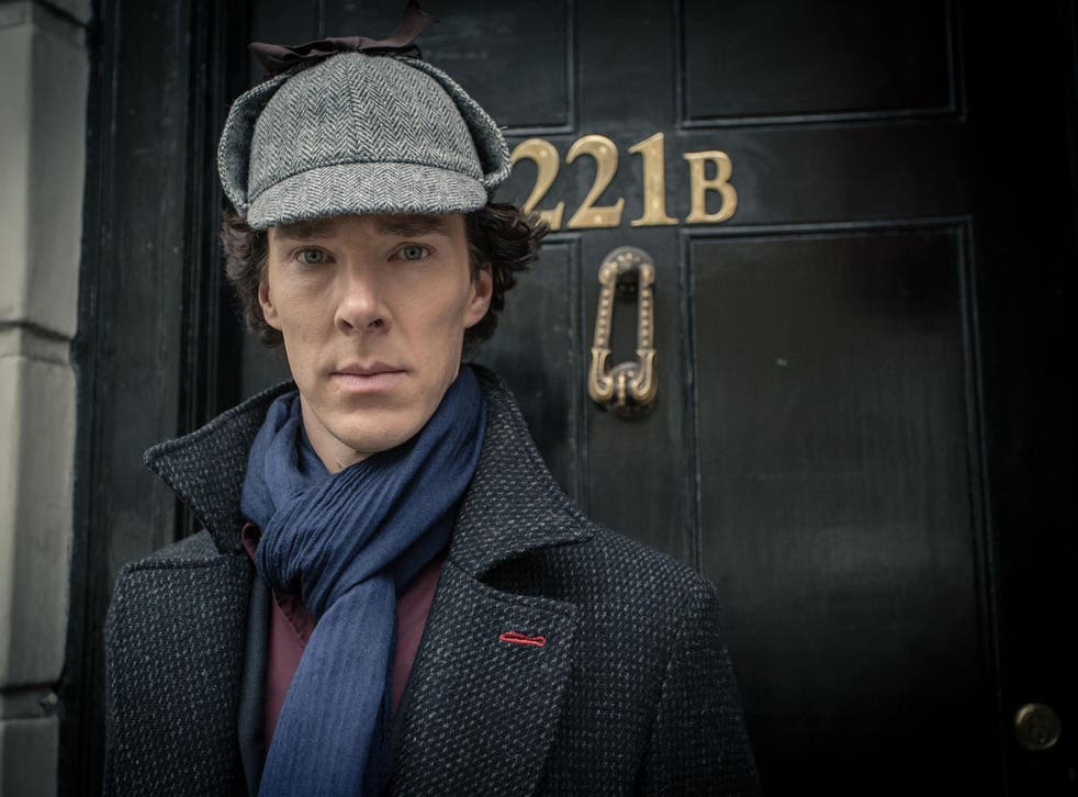 Benedict Cumberbatch as Sherlock Holmes in the new series of the BBC drama