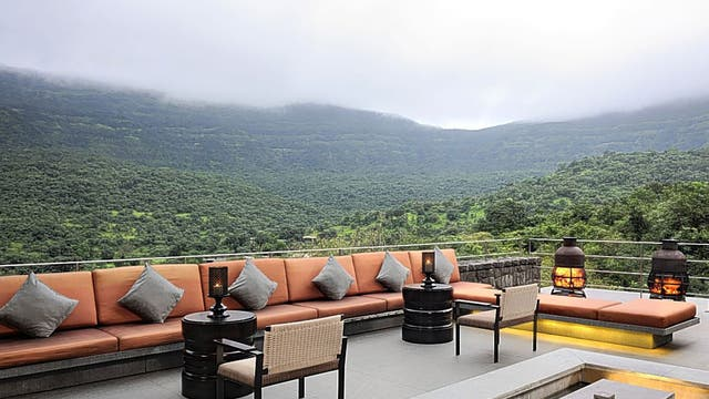 High life: The Valley bar has estate views