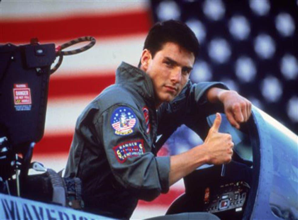 Tom Cruise in the 1986 film 'Top Gun'