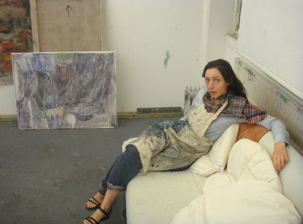 True colours: Varda Caivano in her east London studio