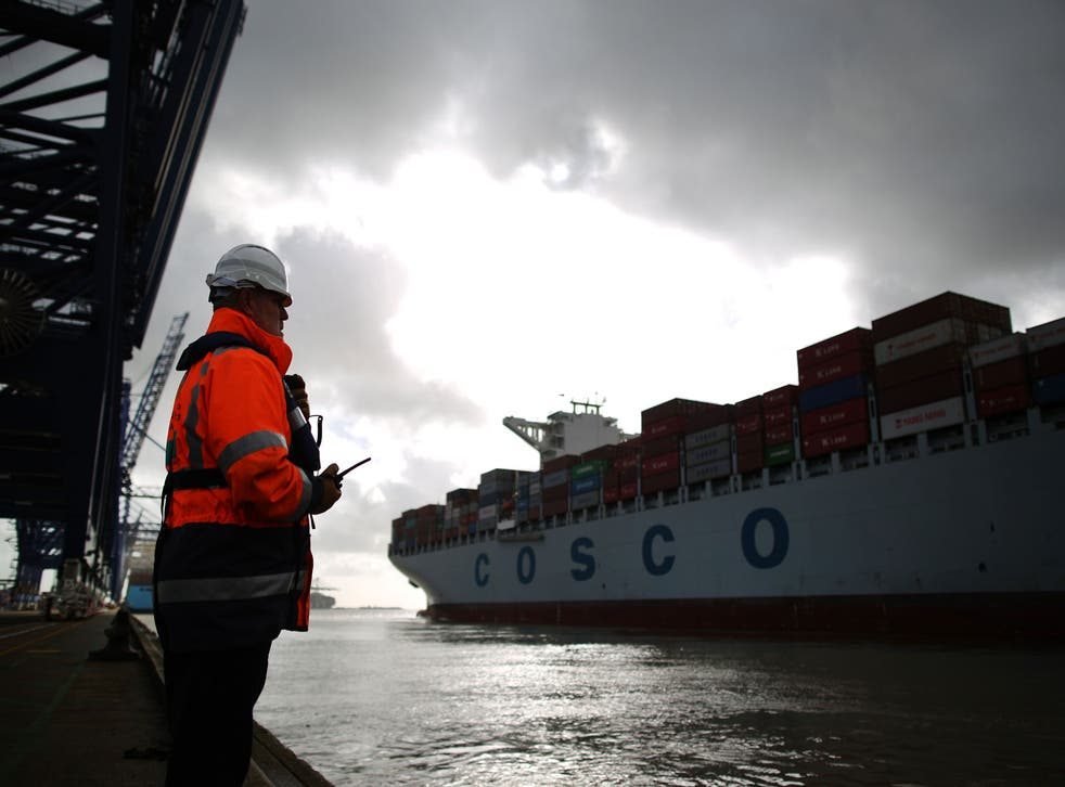 Passionate precision: a container ship at Felixstowe