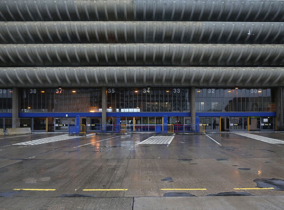 An exterior view of Preston Bus Station. The bus station is, depending on how you measure it, the largest bus station in the world, the second-biggest in Europe, and the longest in Europe