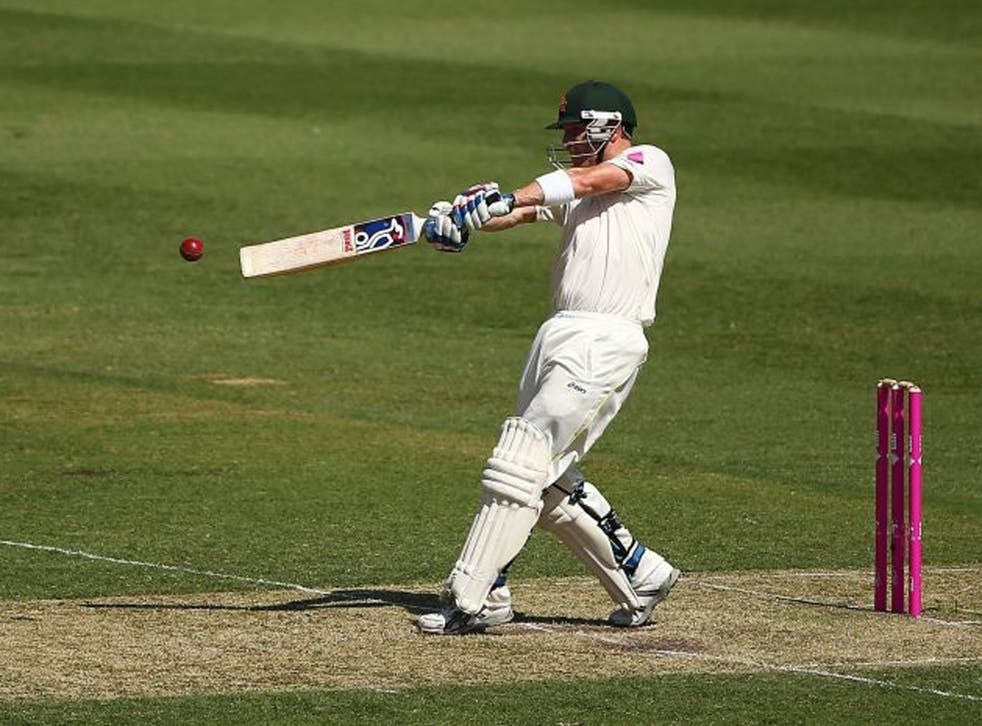 Brad Haddin made his fifth consecutive first-innings score of more than 50
