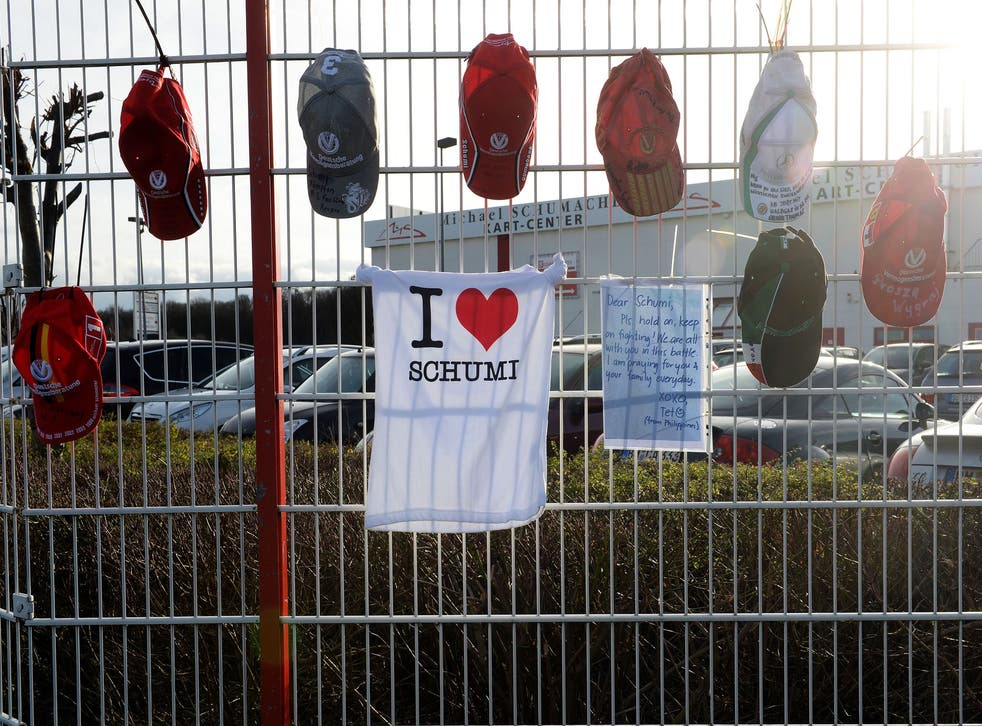 Michael Schumacher's fans were determined not to let his 45th birthday pass by unmarked, and left scores of tributes.