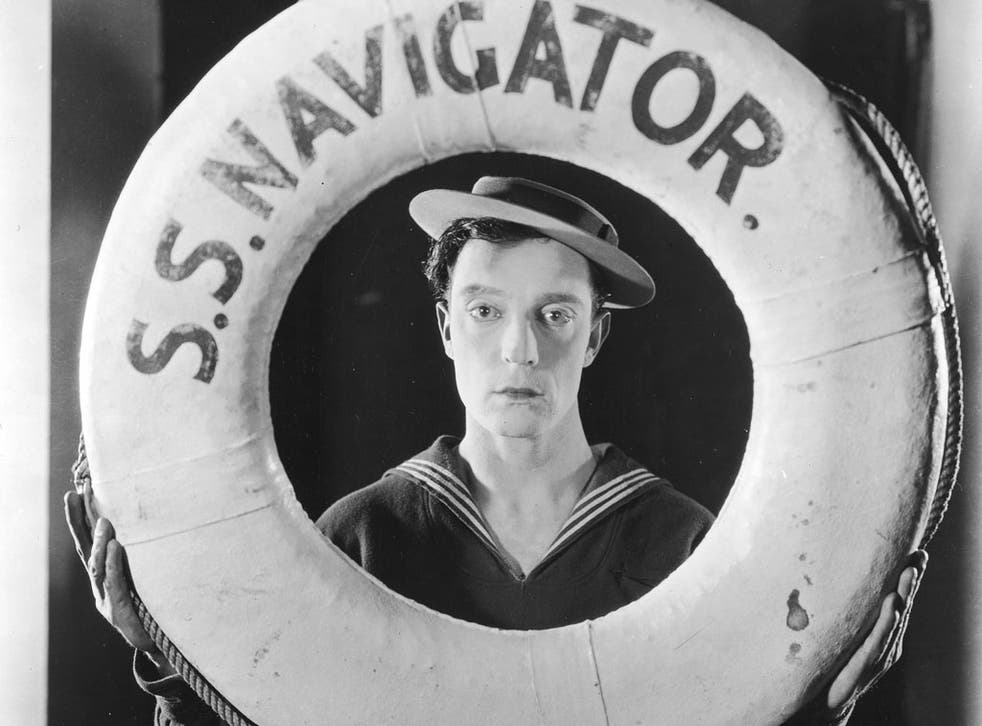 """Buster Keaton, aka """"Stone Face"""", in promotional mode"""