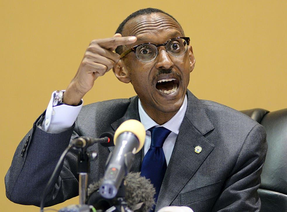 Paul Kagame has been described as a 'war criminal'