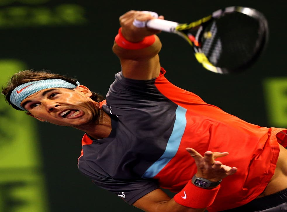 Rafael Nadal battled back from 3-0 down in the first set to beat Peter Gojowczyk yesterday