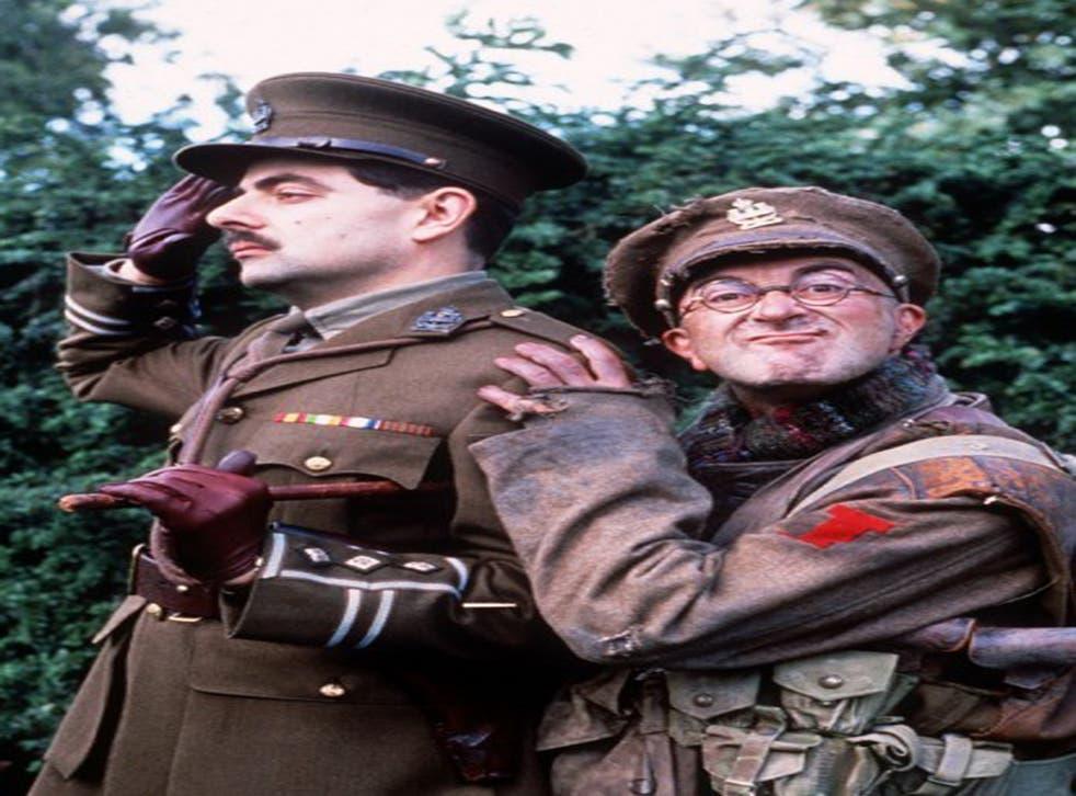Rowan Atkinson and Tony Robinson in Blackadder