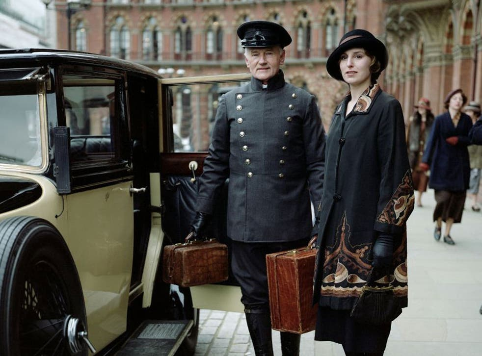 Laura Carmichael as Lady Edith in the fourth series of 'Downton Abbey' which aired last year