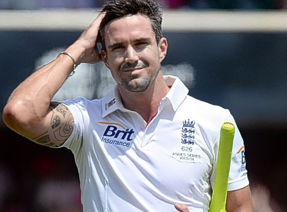 Kevin Pietersen trudges off the field after making just six in the second innings of the fifth Test