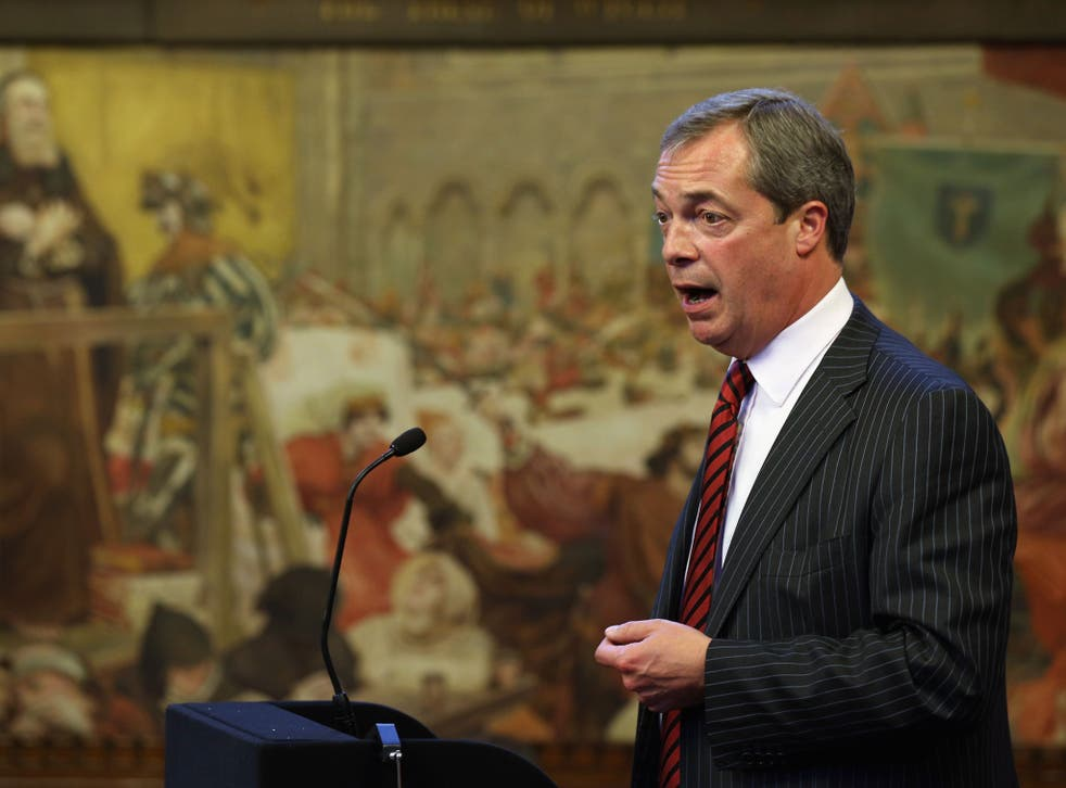 Nigel Farage, the leader of the UK Independence Party, provoked anger after expressing agreement with the 'basic principle' of some of the sentiments in Enoch Powell's notorious 'rivers of blood' speech