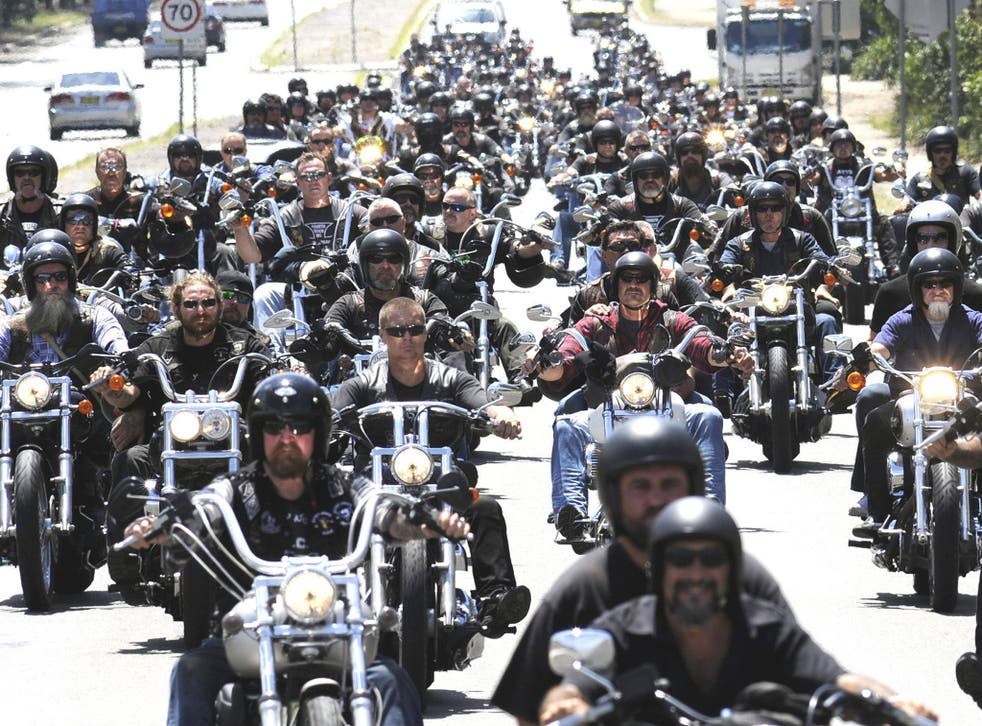 Under the new laws, bikers must convince a court why they should be granted bail, rather than the other way around, and are restricted from gathering in groups of three or more