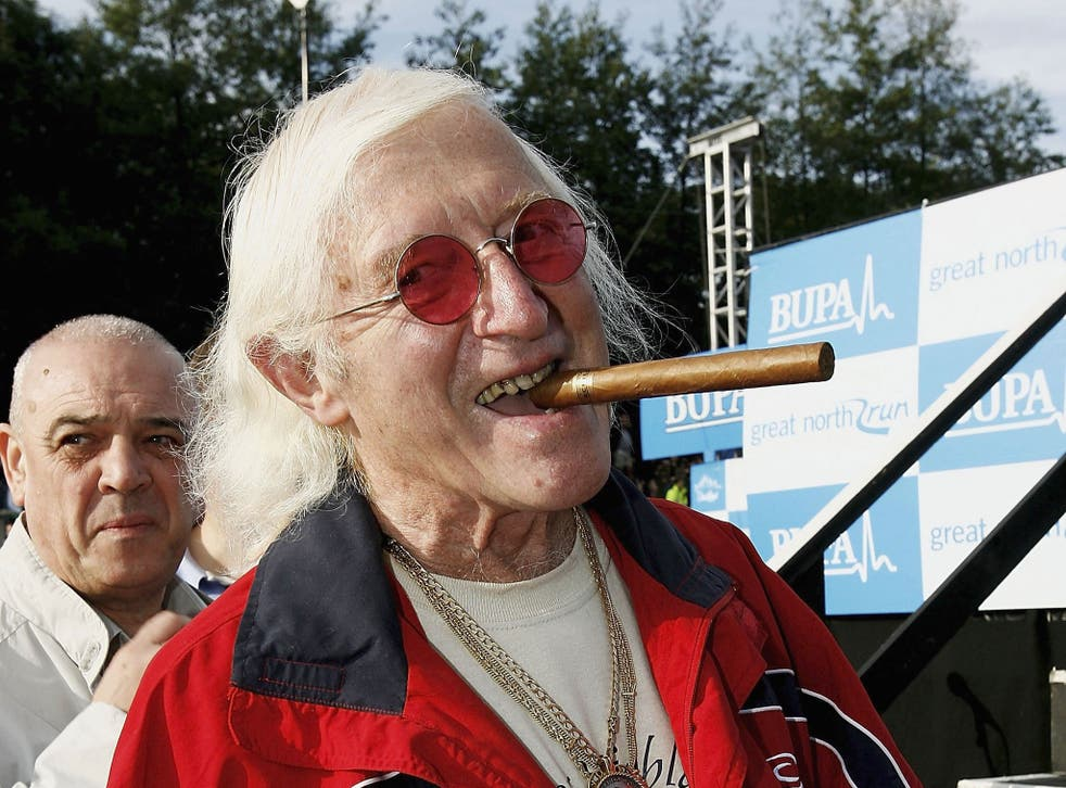 Sir Jimmy Saville prepares for The Bupa Great North Run in 2006