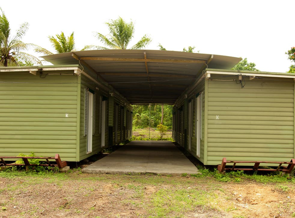 Facilities at the Manus Island Regional Processing Facility, used for the detention of asylum seekers that arrive by boat, primarily to Christmas Island off the Australian mainland, on October 16, 2012