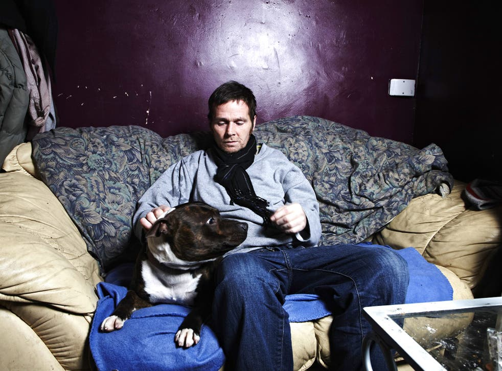 Fungi and his dog in Channel 4's 'Benefits Street'