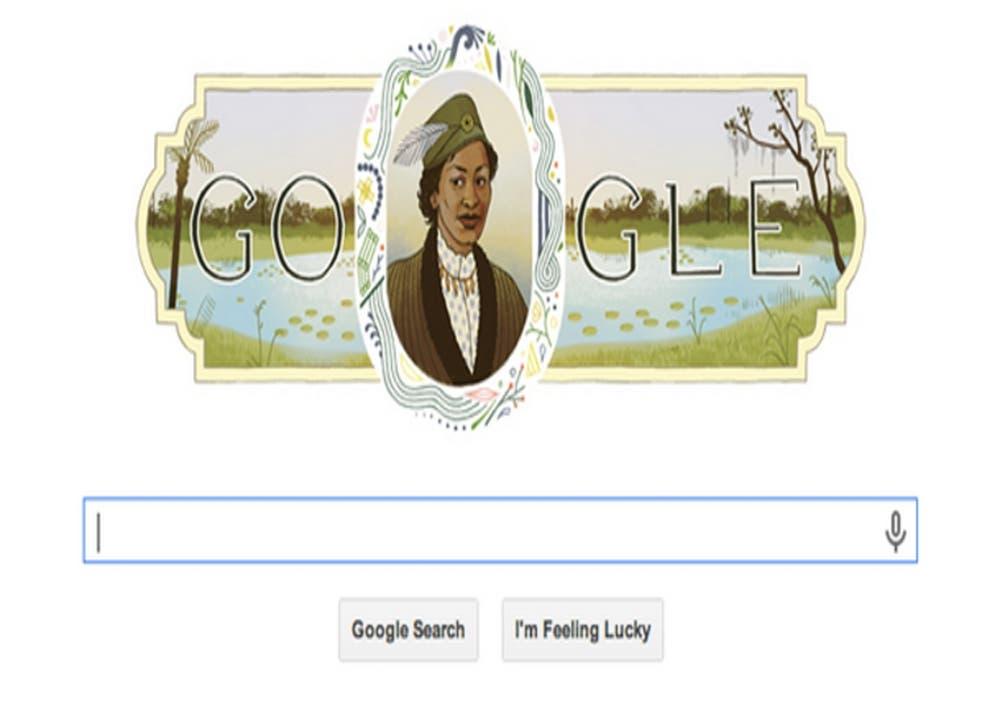 Google celebrates Zora Neale Hurston's life with a doodle on their homepage.