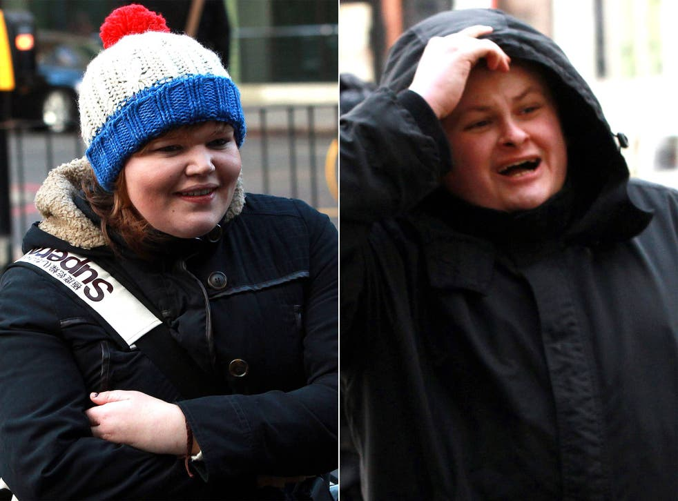 Isabella Sorley, 23, and John Nimmo, 25, arrive at Westminster Magistrates Court, London