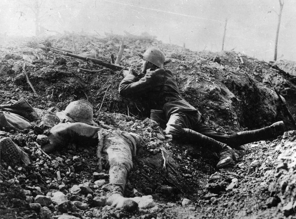 In the trenches in France in 1916