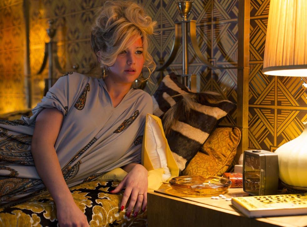 """Jennifer Lawrence as Rosalyn Rosenfeld in a scene from """"American Hustle"""""""