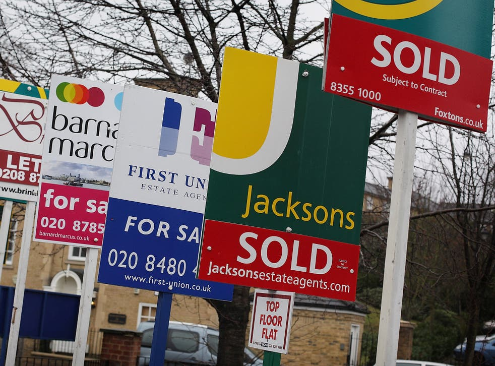 In the South East and the East of England prices have climbed five per cent