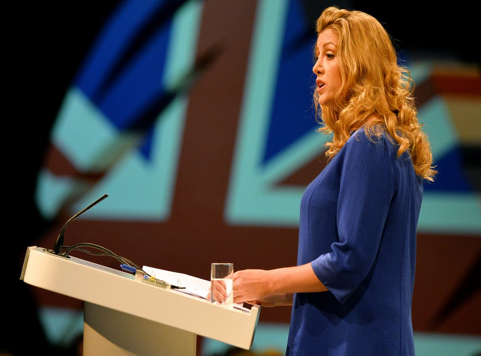 Penny Mordaunt MP speaks at the Conservative Party Conference in Manchester, 2013