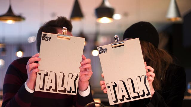 Talking heads: students at the School of Life get a lesson in the art of conversation