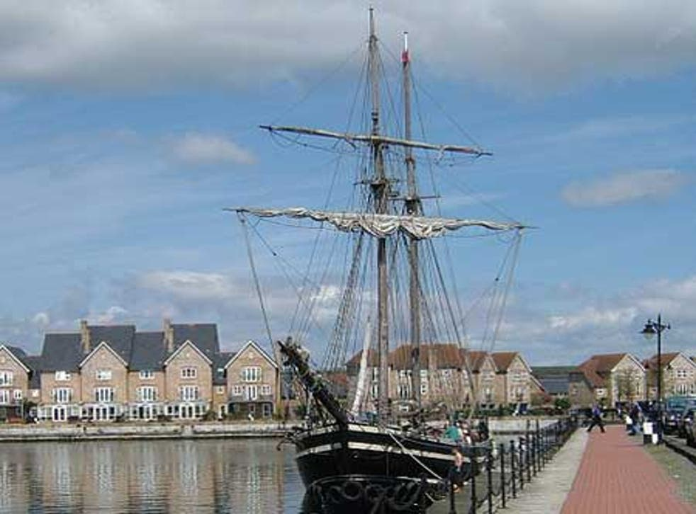 The historic dockyard at Chatham in Kent