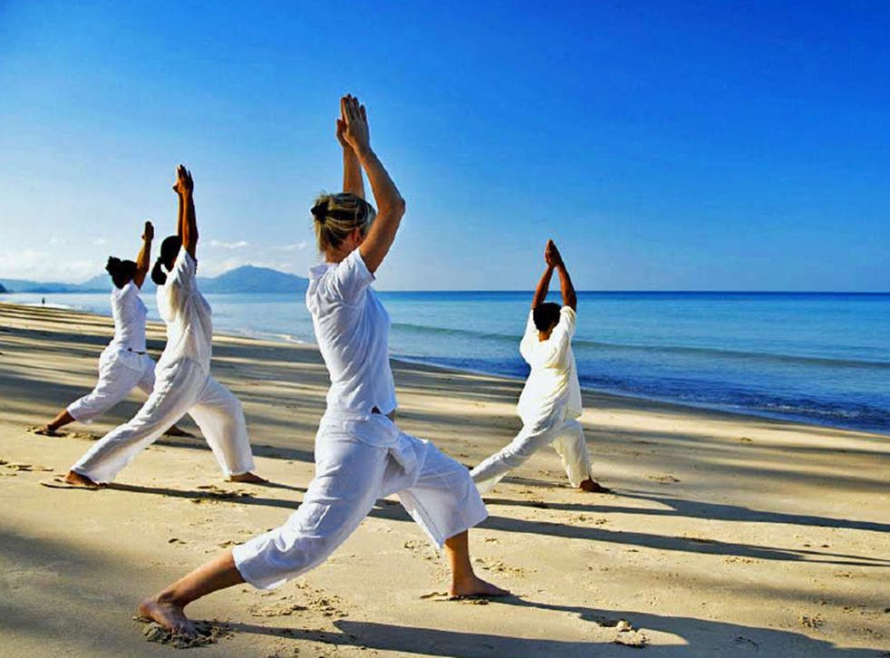 Sun salutation: yoga at the Anantara Layan Resort