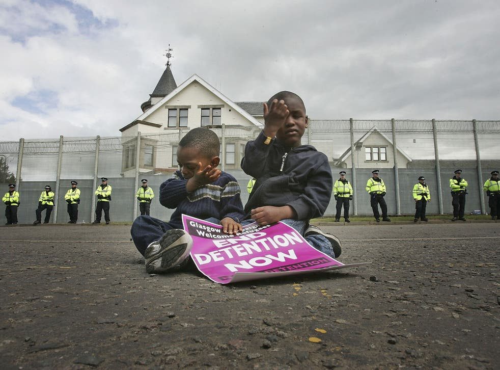 Picture from 2005; according to the Refugee Council some young asylum-seekers are being held in adult detention for weeks before authorities decide they are in fact children