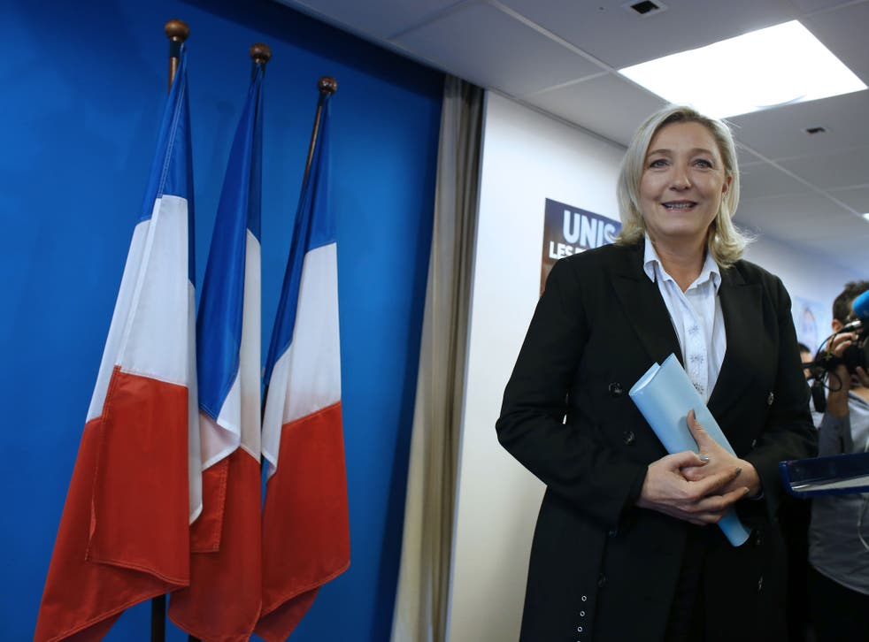 Marine Le Pen believes her party and Ukip share a common set of values