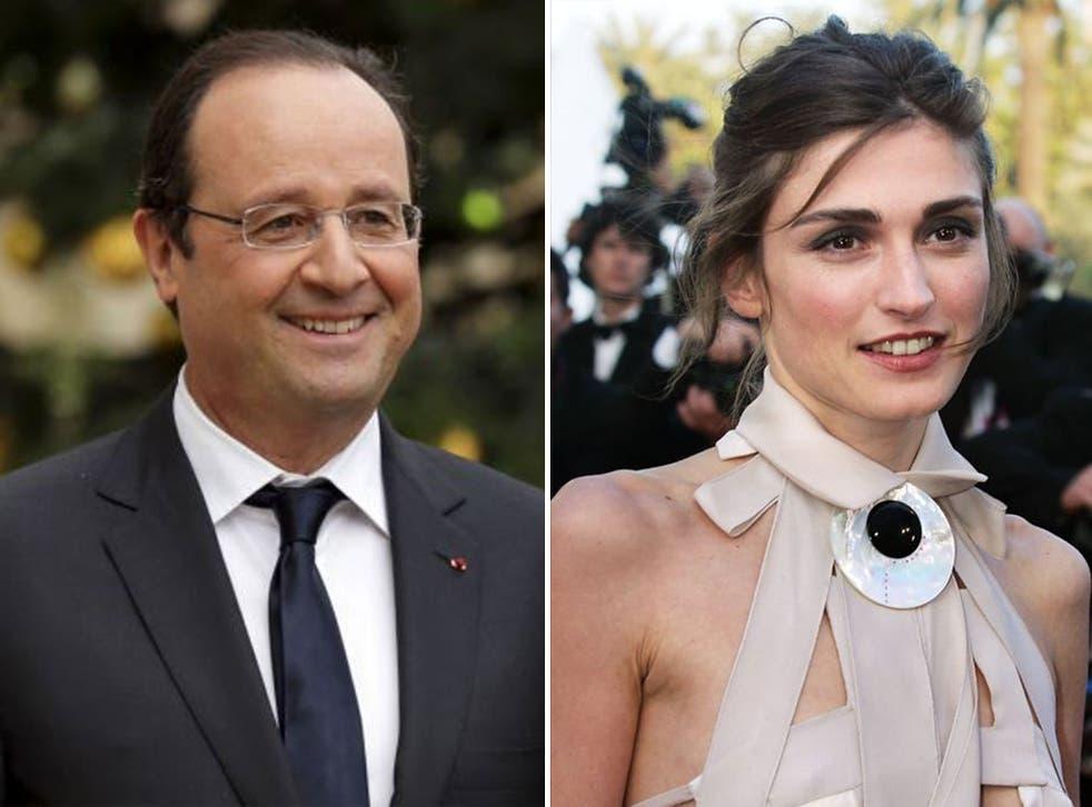 French President Francois Hollande and Julie Gayet