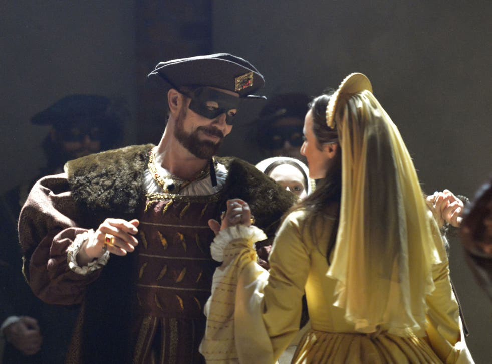 Nathaniel Parker as Henry VIII and Lydia Leonard as Anne Boleyn in Mike Poulton's adaptation of 'Wolf Hall'