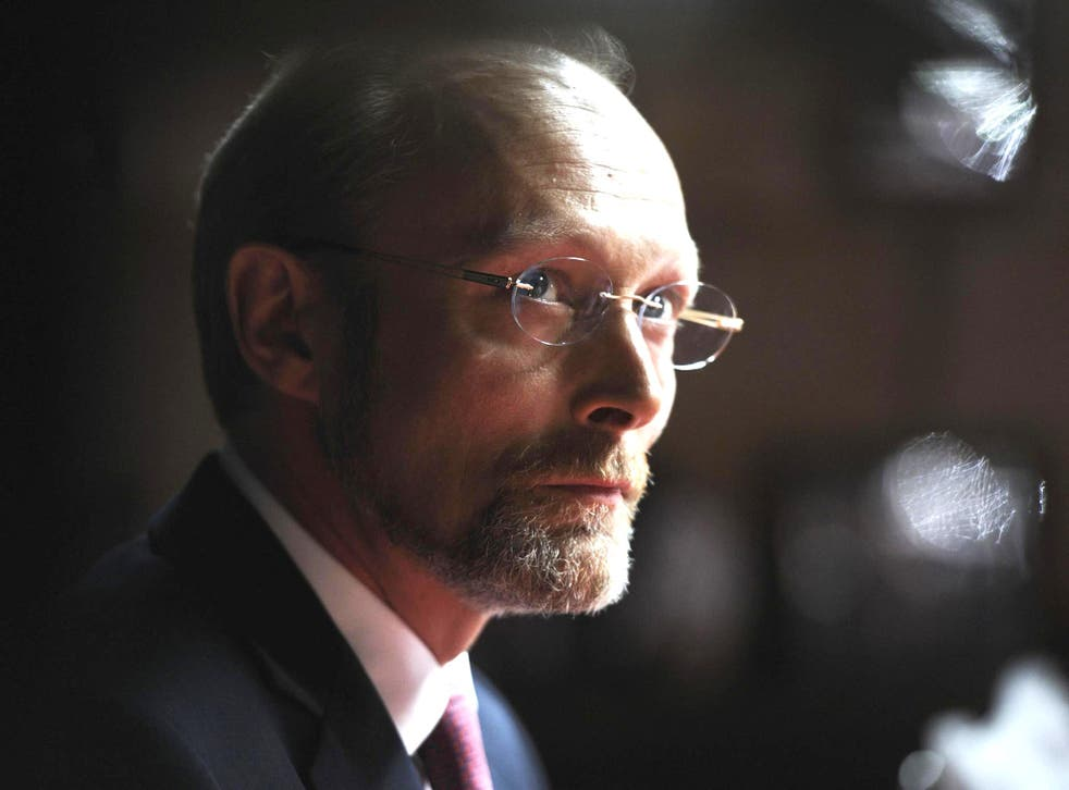 Lars Mikkelsen as the newspaper proprietor Charles Augustus Magnussen