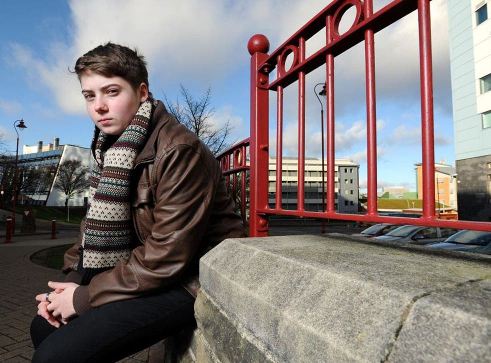 Taz Gibbins-Klein suffered depression as a teenager after coming out