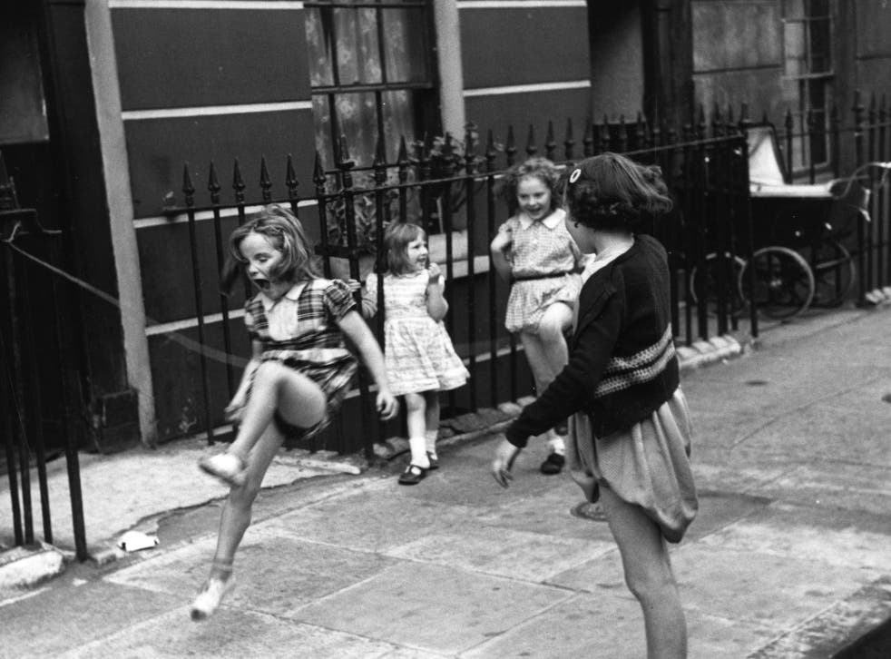Jump-start: play is the natural means by which children, such as these girls in 1954, educate themselves