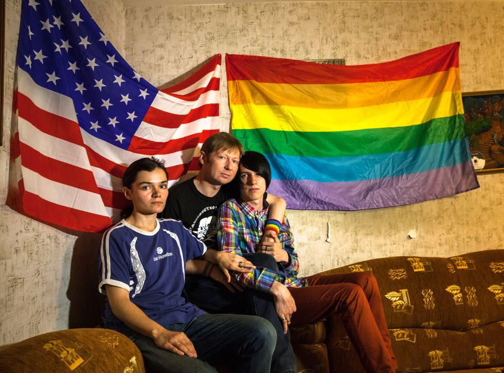'Ray', Alexei Davydov and Nikita Guryanov, three members of Russia's LGBT community, say they have been discriminated against since laws banning 'homosexual propaganda' were introduced