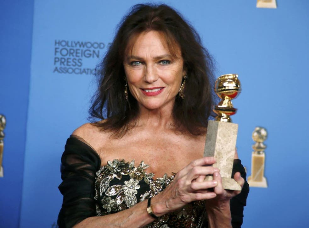 Jacqueline Bisset won her gong for best supporting actress in a series, mini-series or movie in the BBC's Dancing On The Edge