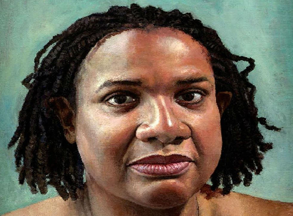 A 2004 painting of MP Diane Abbott which cost £11,750, by Stuart Pearson Wright